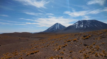 San Pedro de Atacama, Chile, volcanoes, mountains