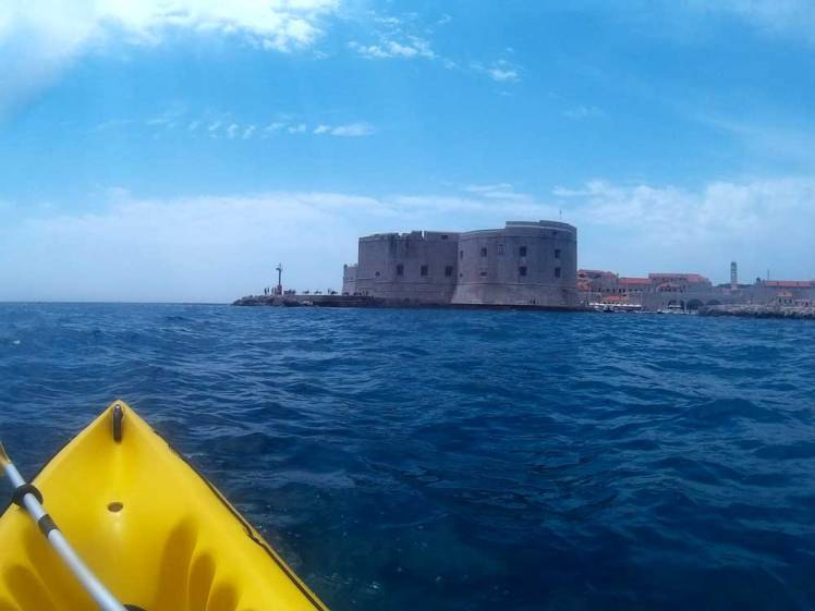 Kayaking by Dubrovnik, Croatia's walls