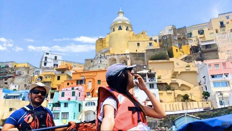 Kayaking in Procida, Italy