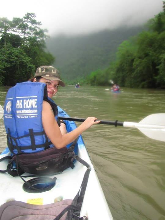 Kayaking in Vang Vieng, Laos