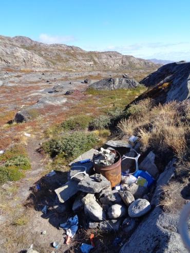 Greenland Arctic Circle Trail, trash