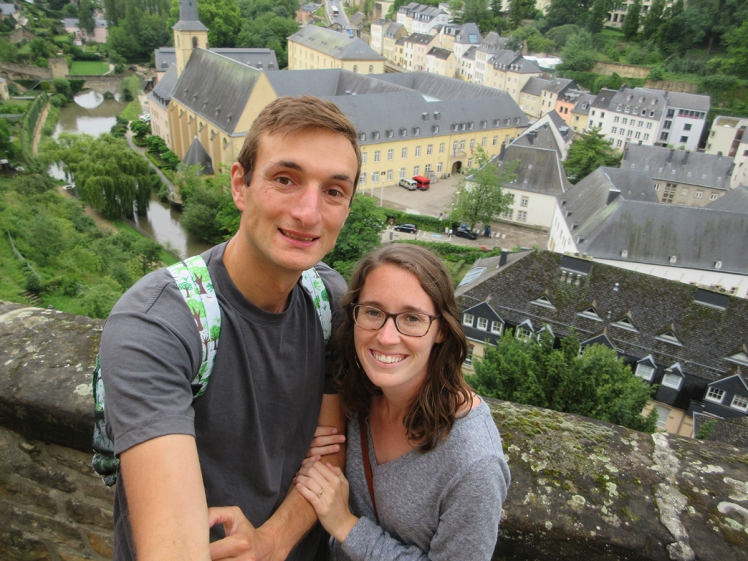 Tim & Kaylene in Luxembourg City